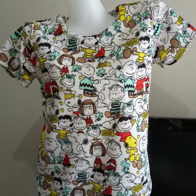 Zipper Back Tees #Snoopy