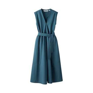 Uniqlo X Lemaire 束腰連身裙 Seersucker Sleeveless Dress