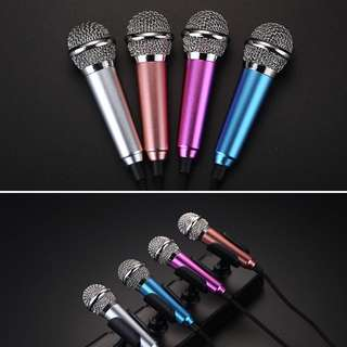 INSTOCK Smart Phone Mini 3.5mm Pocket Size Microphone For PC Mobile Mini Microphone Android IPhone Mobile Phone Computer Mobile Phone Sing Karaoke