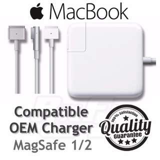 *PROMO* Macbook Magsafe 1 / 2 Compatible OEM Charger Adapter Power Supply 29W 45W 60W 61W 85W 87W (with Manufacters Defects Warranty)