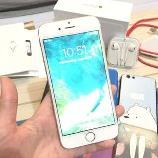 Dijual iphone 6, 64gb warna gold mulus