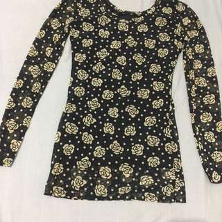 Long sleeves see through (floral)