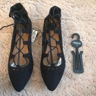 Ardene Lace Up Flats