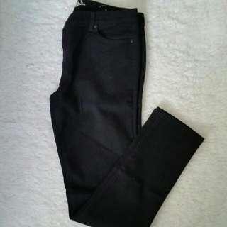 Bluenotes Black Skinny Straight Size 12 Jeans