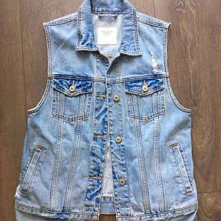 Abercrombie Destroyed Denim Vest