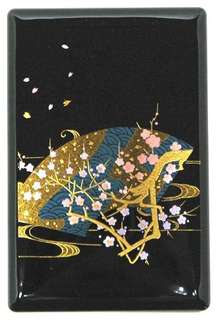 Souvenirs for overseas Japanese souvenirs Kaga tradition Ishikawa traditional crafts Kaga Yamanaka lacquerware business cards and cards plum and cherry blossoms (Sakura, cherry blossoms) FREE SHIPPING FROM JAPAN