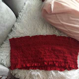 Red Brandy Melville Bandeau Top