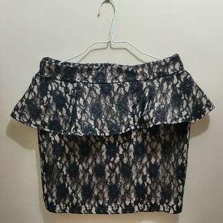 NY Square Laced Peplum Skirt ❤