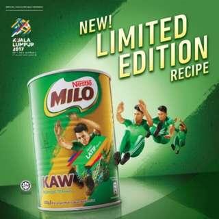 BARU ! Milo Kaw Sukan Sea Games KL Tin Limited Edition New Recipe 500g 0.5kg Nestle Ori