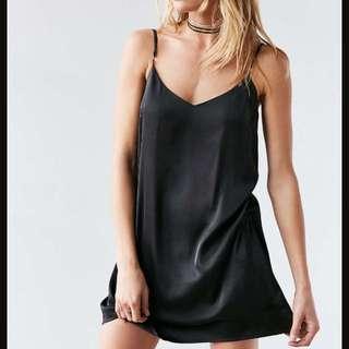 Silence and Noise: Silk Black Dress