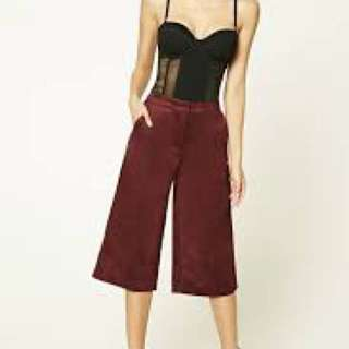 Forever 21 suede culottes
