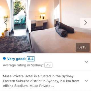Muse Private Hotel room 2 person getaway