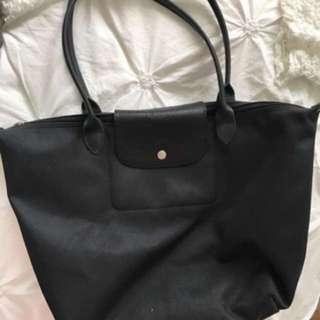 Authentic Double Black Longchamp Le Pilage