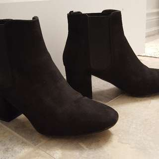 Black Velvet Ankle Booties From H&M