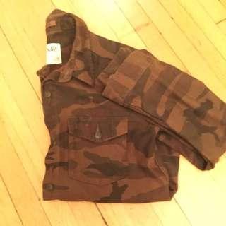 Aritzia TNA camo shirt/jacket