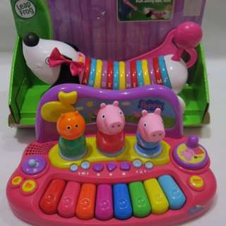 Set Leapfrog Alphapup and Peppa and Friends Piano