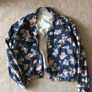 Denim Floral Jacket