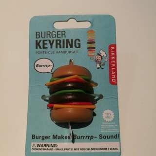 Burger Burp Sound Keyring