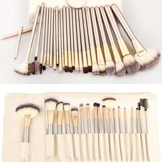 Professional 24-Piece Makeup Brush Set Tool with Case
