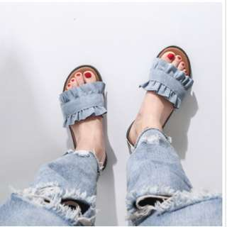 Clearance Stock! Riffle Cotton Sandal