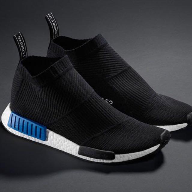 10.5us Adidas NMD CS1 Black Blue Tokyo 6f30116b1294