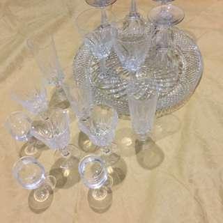 Preloved crystal wine glass