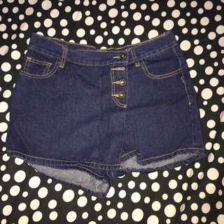 Dark Denim Short/Skirt