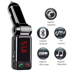 Wireless Bluetooth Car Charger FM Transmitter LED Display Modulator Car Kit MP3 Player USB