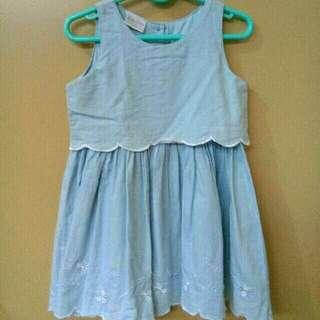 Little Miss Dainty Denim Dress