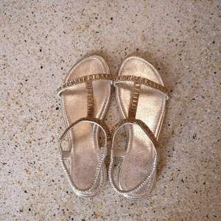 Figliarina Gold Sandals