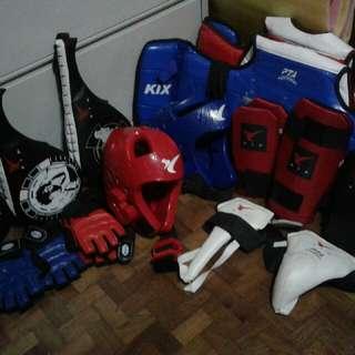 2 Sets Of Complete Kix Taekwondo Gears