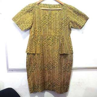 Dress Batik Lurik Solo #New