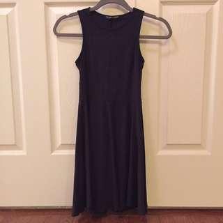 Brandy Melville Black Skater Dress