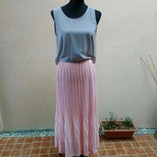 Plains and Prints Maxi Dress