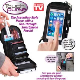 Touch Purse Cellphone Casing guna phone tanpa buka casing mudah simpan byk brg