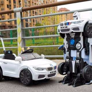 BMW Robot Car Ride On Car for Kids