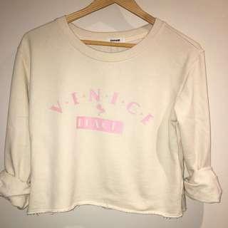 light yellow crop sweater