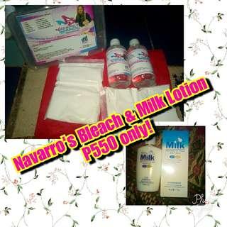 Navarro's Bleach & Milk Lotion Set