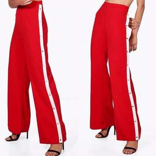 Red White Stripe Wide Leg Pant