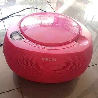 Pink CD player