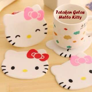 TATAKAN GELAS HELLO KITTY - SILICONE