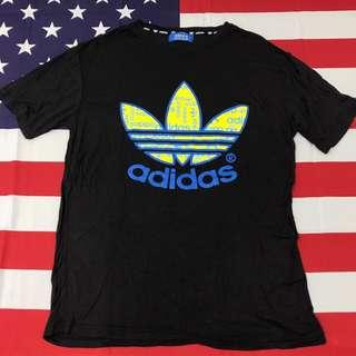 Adidas Original 三葉愛迪達黑色短T L