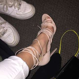 ASOS PINK SUADE HEELS PRETTIEST SHOES IN THE WORLD
