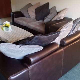 Sofa set , coffee table and rug