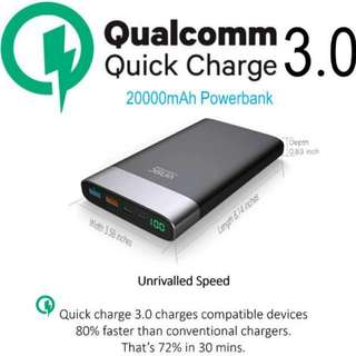 20000mAh Powerbank - Qualcomm Quickcharge 3.0
