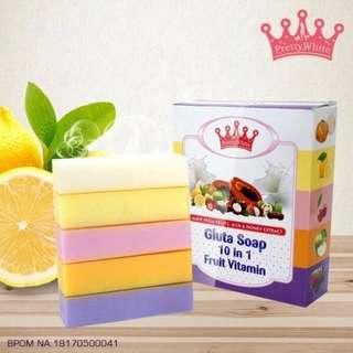 FRUITAMIN SOAP 10 IN 1 BPOM NEW / SABUN FRUITAMIN SOAP BPOM