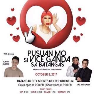 Vice Ganda Concert Ticket in Batangas