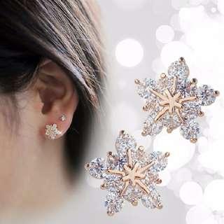 Golden Snowflakes Earring