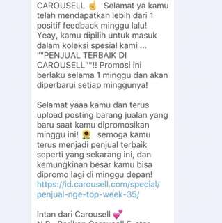 Thank u carousell (ini untuk ke 3 kali nya)