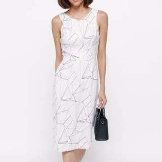 LB Love Bonito Ikaley Printed Midi Dress (Size M)